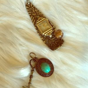 Jewelry - Two Charms Timepiece and Key
